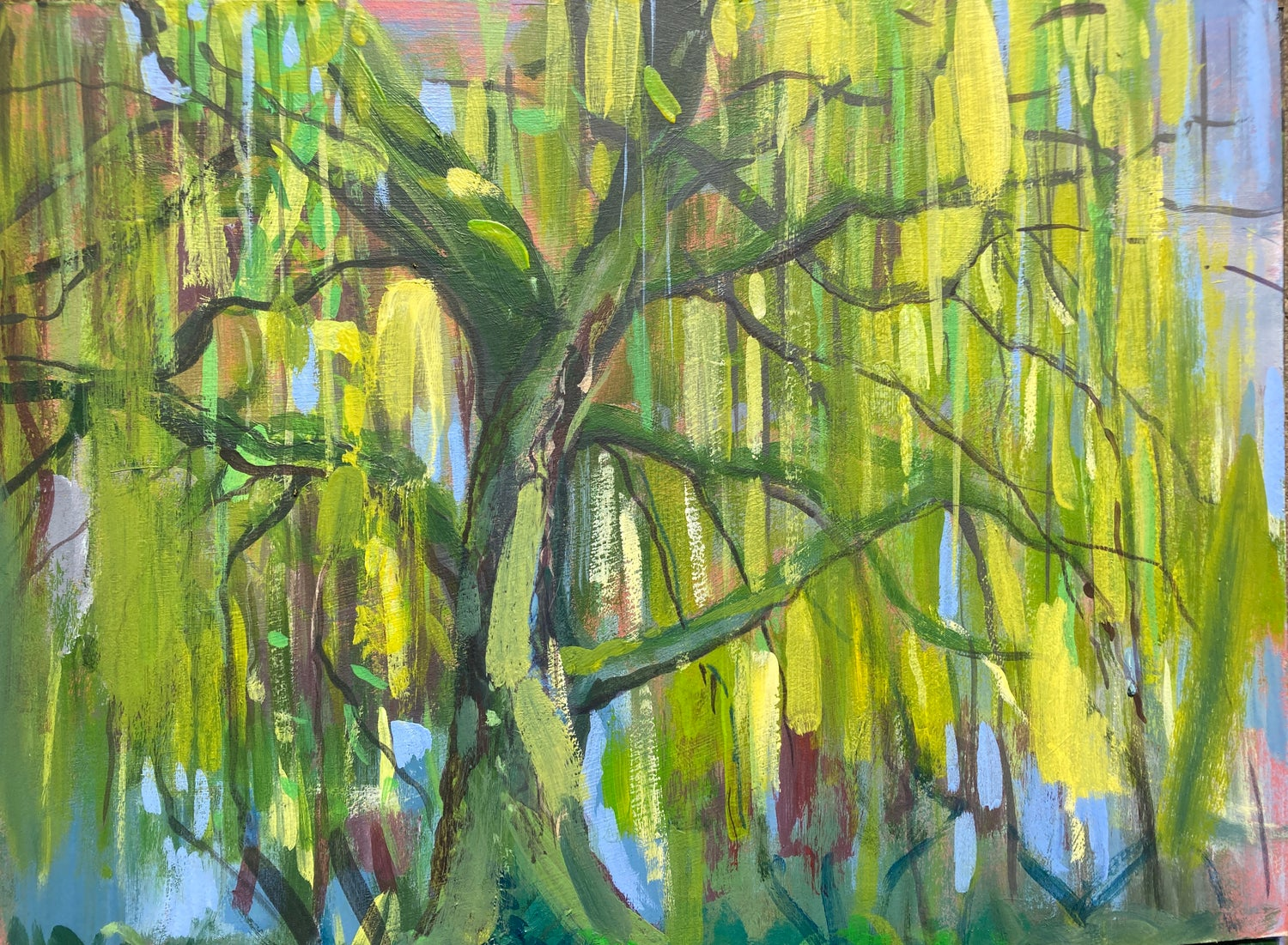 Image of Old Willow - Plein Air Acrylic Study
