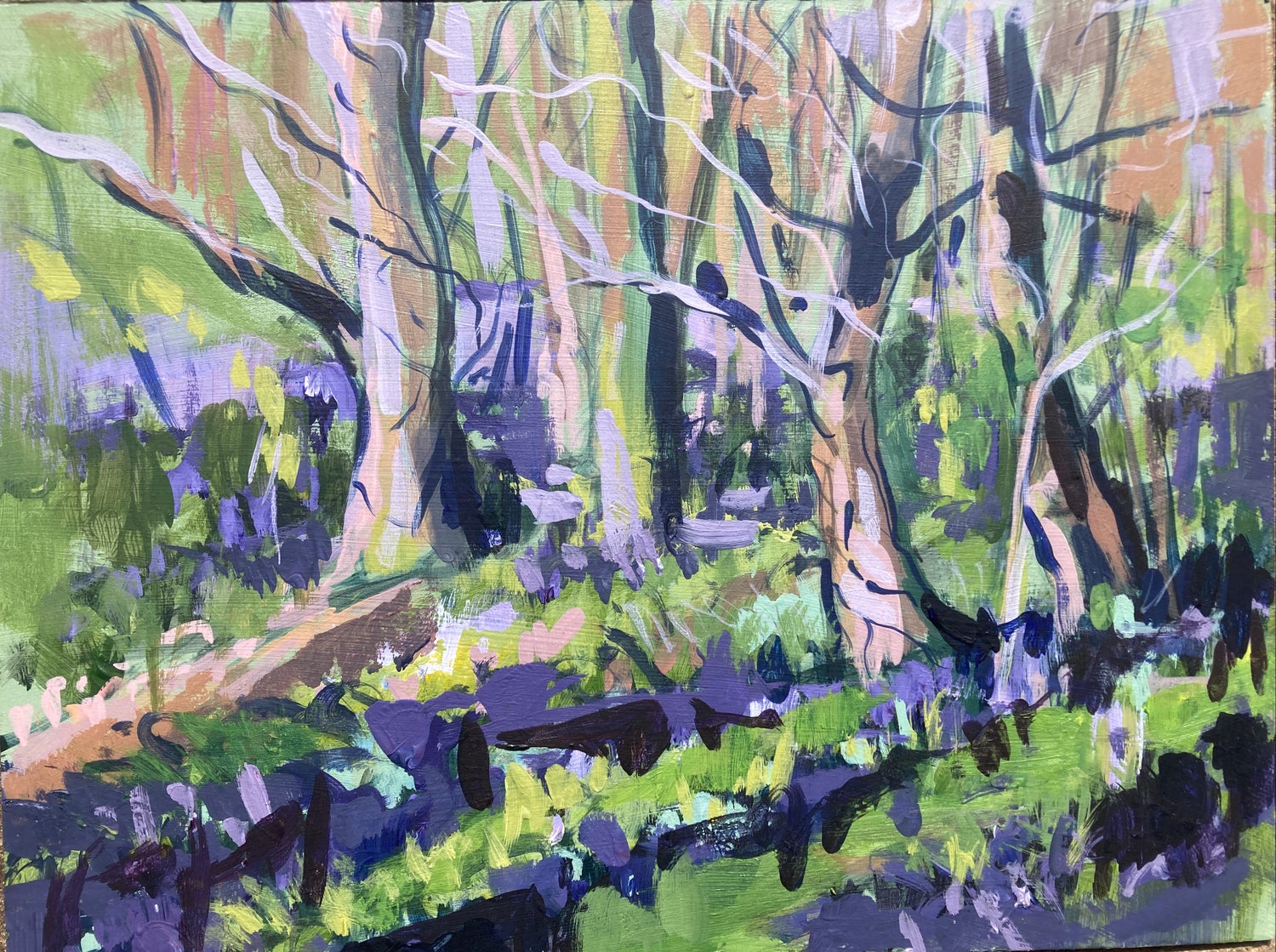 Image of Early Blubells - Plein Air Study