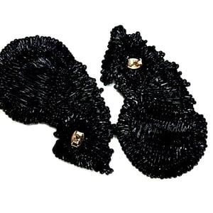 Image of PRINTED BLACK EARRINGS 3
