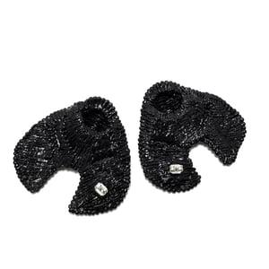 Image of PRINTED BLACK EARRINGS  1