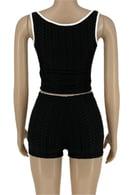 Image 2 of Crop top 2 piece shorts set