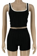 Image 1 of Crop top 2 piece shorts set