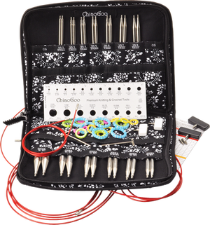 """Image of ChiaoGoo - 5"""" TWIST Interchangeable Needle Set Red Lace Complete US 2-15 (2.75mm-10.00mm)"""