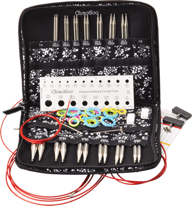 """Image of ChiaoGoo - 4"""" TWIST Interchangeable Needle Set Red Lace Complete US 2-15 (2.75mm-10.00mm)"""