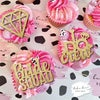 Bridal - glitter cupcake toppers