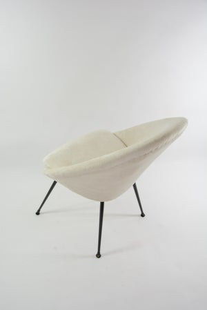 Image of Fauteuil coquille ronde crème