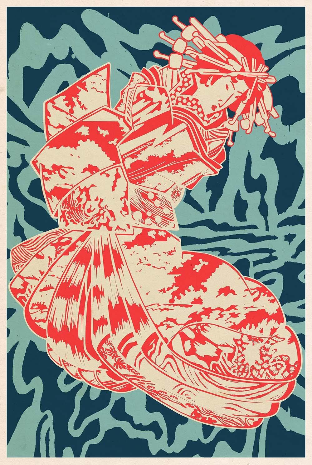 Image of Psychedelic Geisha // Giclee print