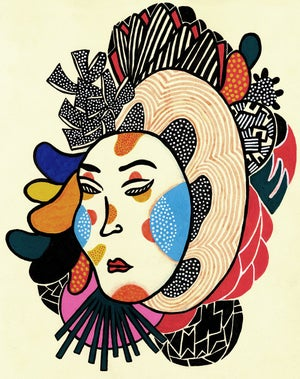 Image of Noh Mask // Giclee print