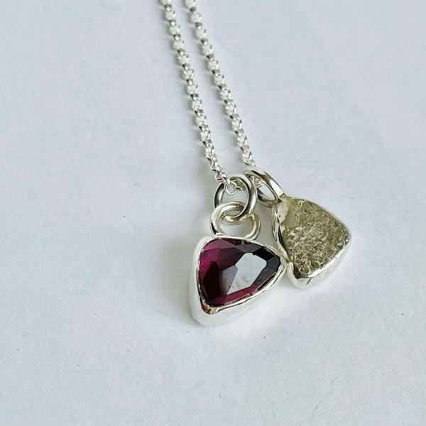 Image of Garnet necklace
