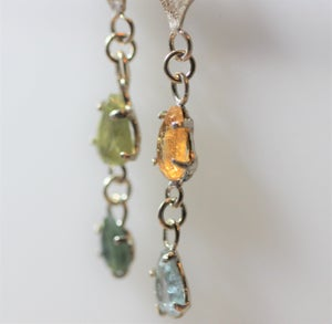Image of Mismatched Tourmaline earrings