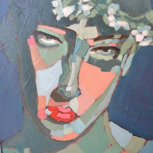 Image of Contemporary Painting, 'Bella with Blossom', Poppy Ellis