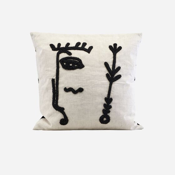 Image of Ingo cushion cover with face silhouette