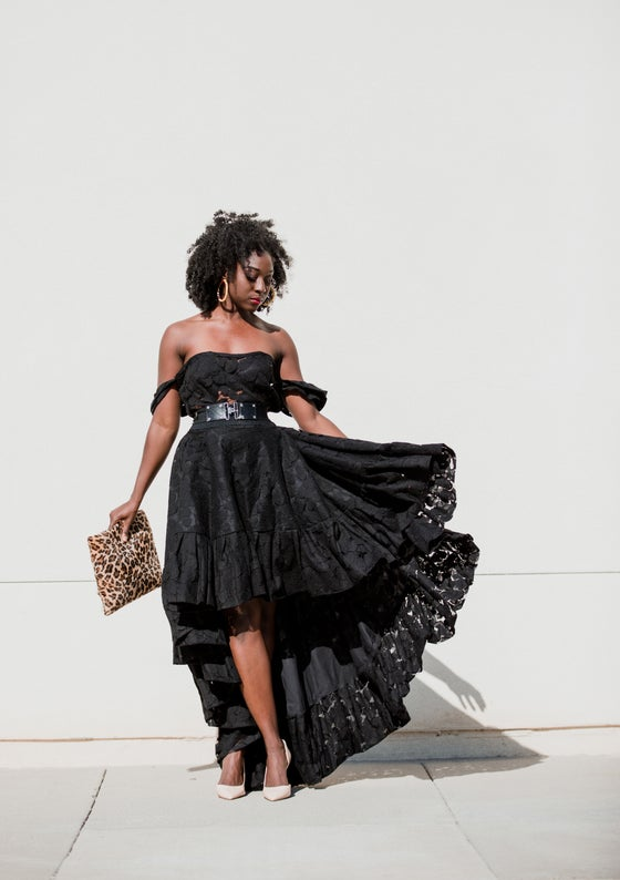 Image of   Mademoiselle  Black high /low dress