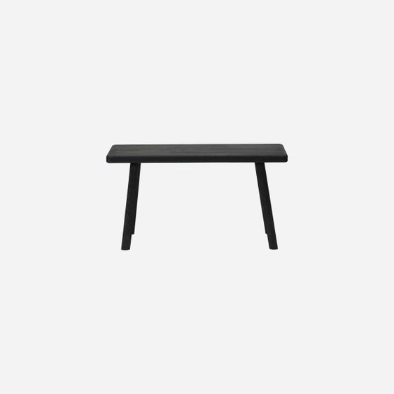 Image of Nadi black simple wooden bench