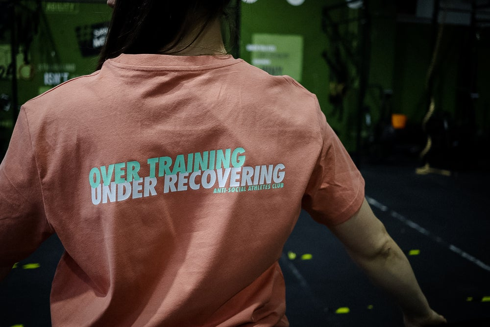 Image of Over Training Crew Rose/Green