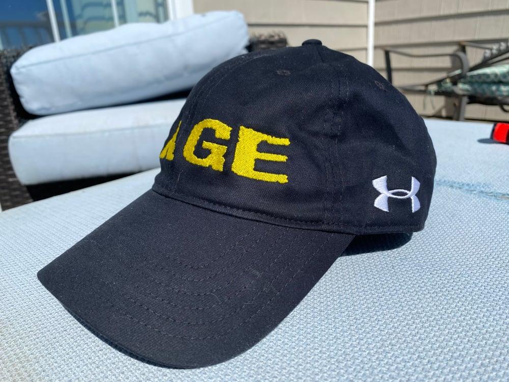Under Armor Black Unstructrured Gage Logo Hat
