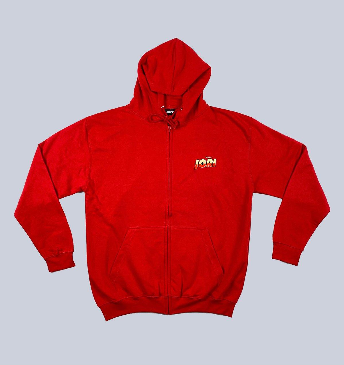 Red Logo Zip Hood