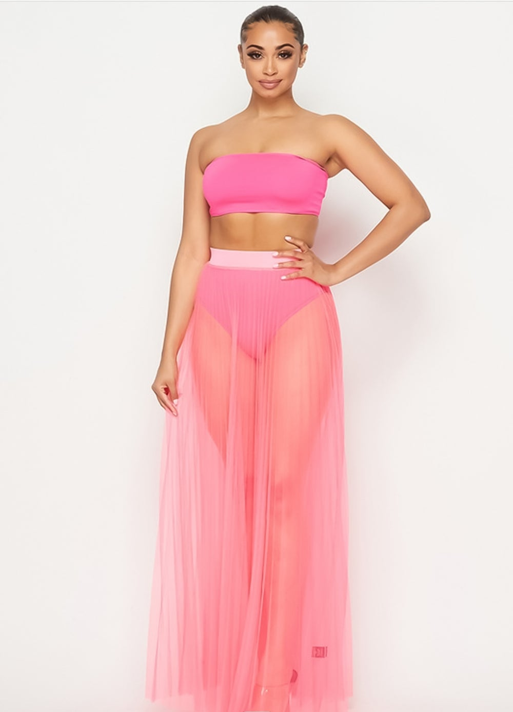 Image of MarcianoTulle Skirt (Pink)