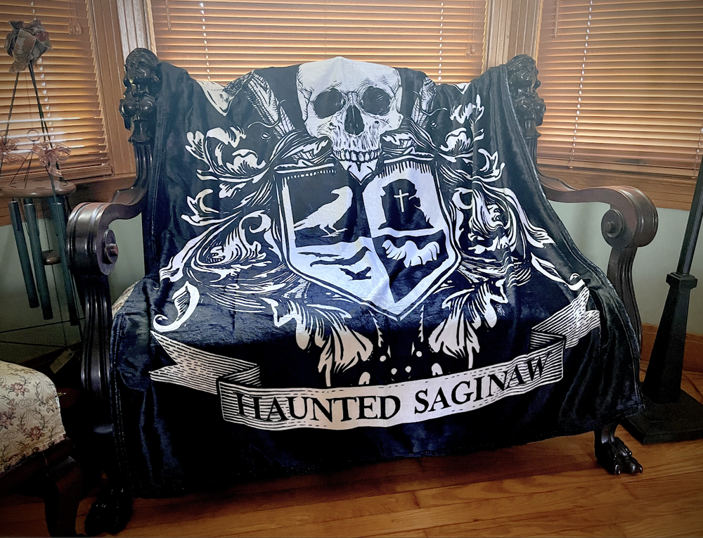 Image of Haunted Saginaw: Crest Blanket ( Pre-order ships by July 1st)