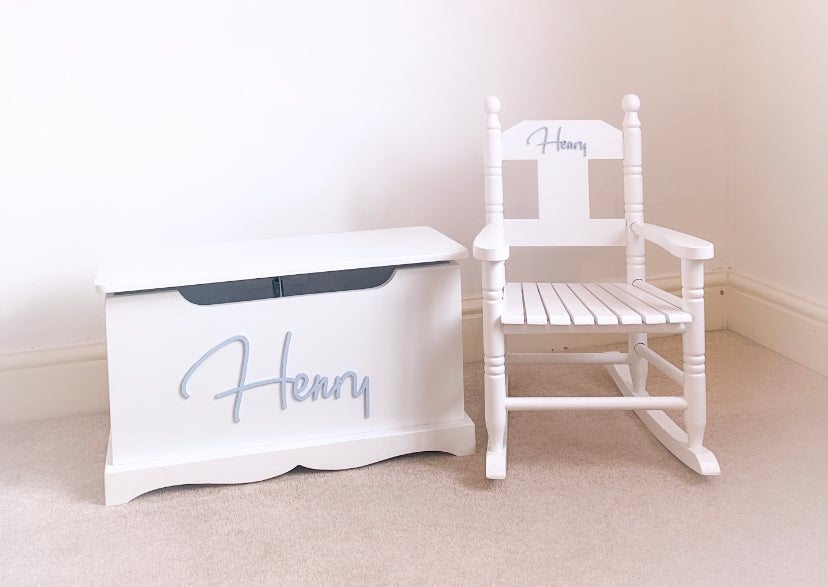 """Image of """"Signature"""" Wooden Top Chest & Rocking Chair """"BUNDLE"""" ***DELIVERY AFTER 1st NOVEMBER***"""