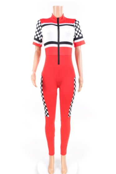 Image of Checker Racing  Jumpsuit