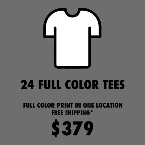 Image of 24 FULL COLOR T-SHIRT PACKAGE
