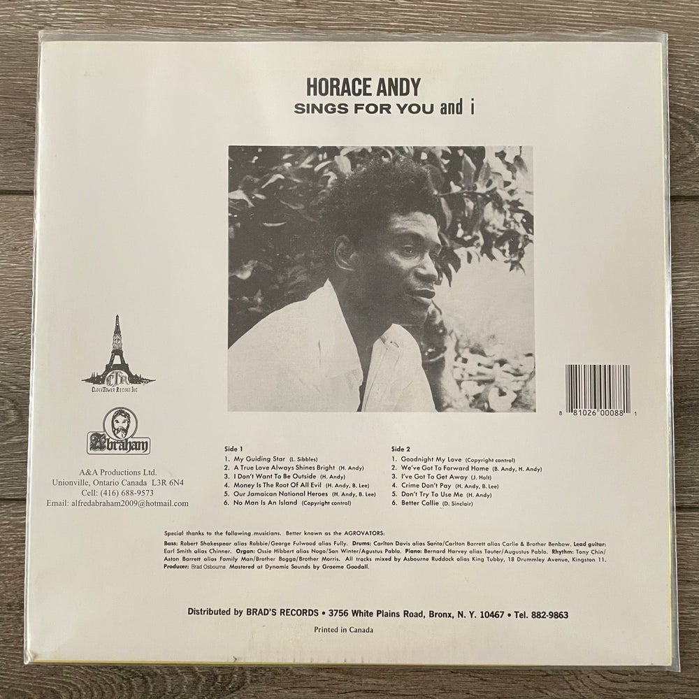 Image of Horace Andy - Sings For You And I Vinyl LP