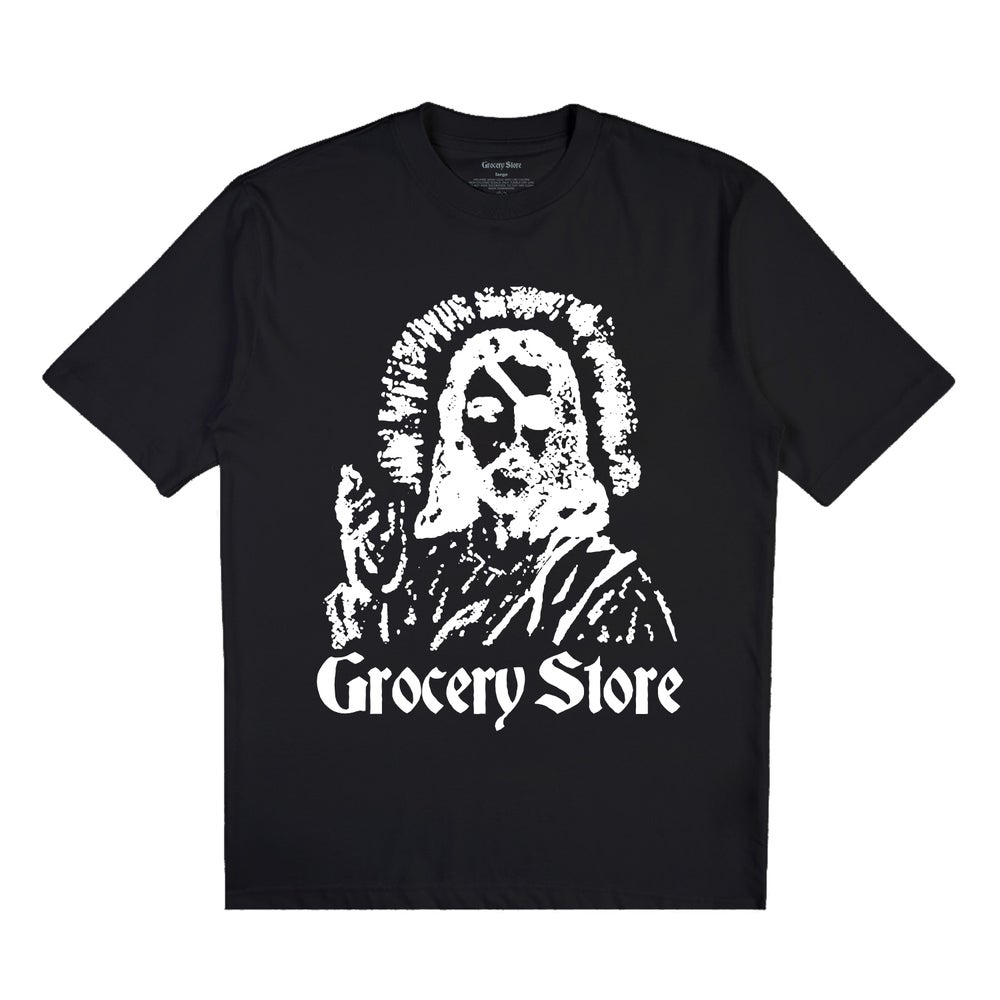 Image of GROCERY STORE   ONE EYED JACK TEE (BLACK)