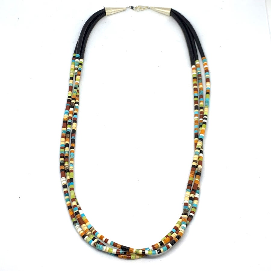 Image of Santo Domingo Mixed Heishi Layered Necklace (Desert Mix)