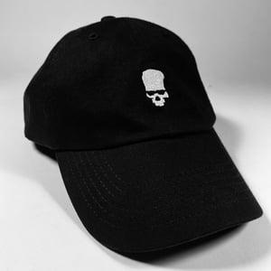 Image of YOUTH ATTACK SKULL LOGO DAD HAT—7 LEFT