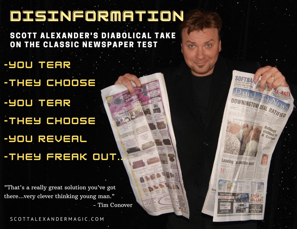 Image of Disinformation-Newspaper Test
