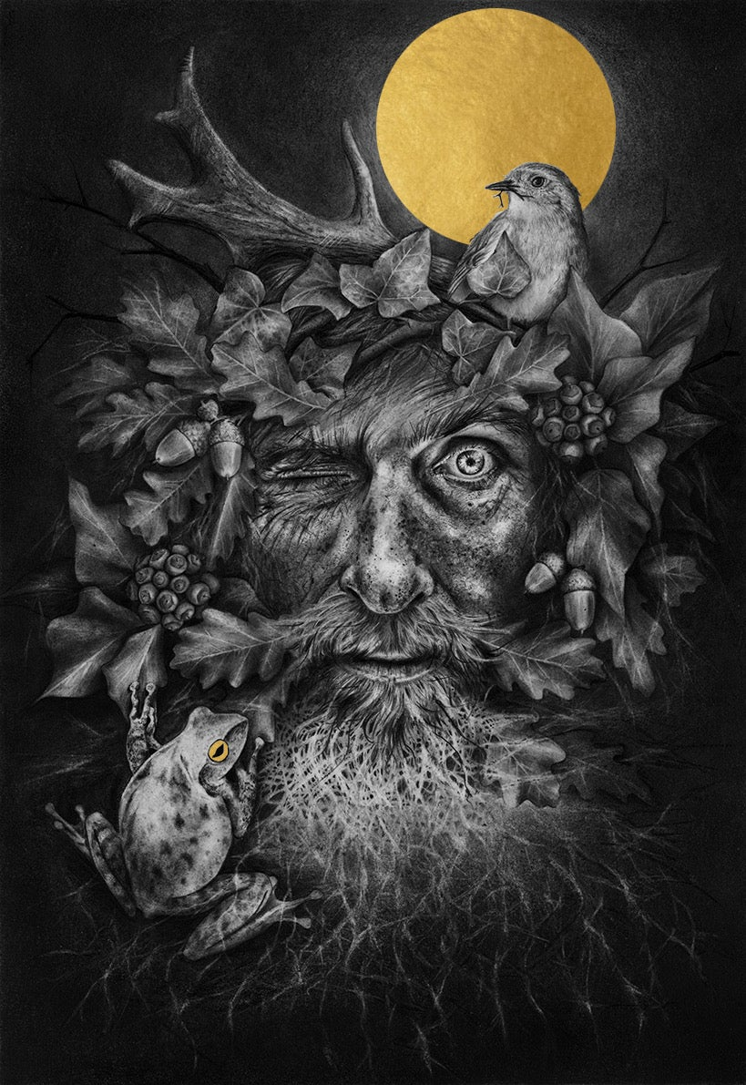 Image of Green Man GOLD LARGE Edition