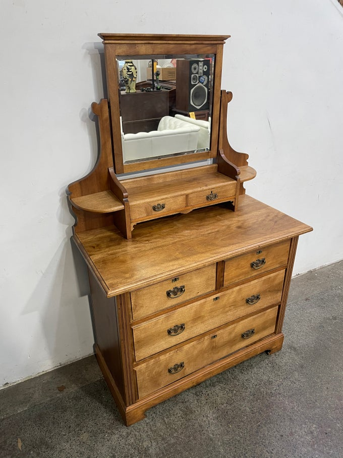 Image of RESTORED ANTIQUE OAK DRESSER