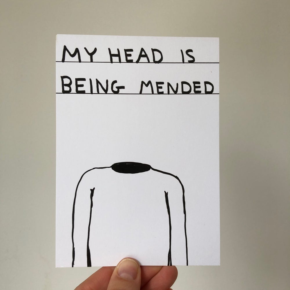 Image of My Head is Being Mended by David Shrigley