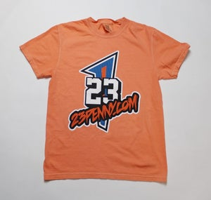 "Image of 23Penny Short Sleeve Tee ""10 YR ANNIV./Coral Orange"""