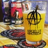 Beer Glass 42cl Shaker Style + 2 Coasters/Beer Mats