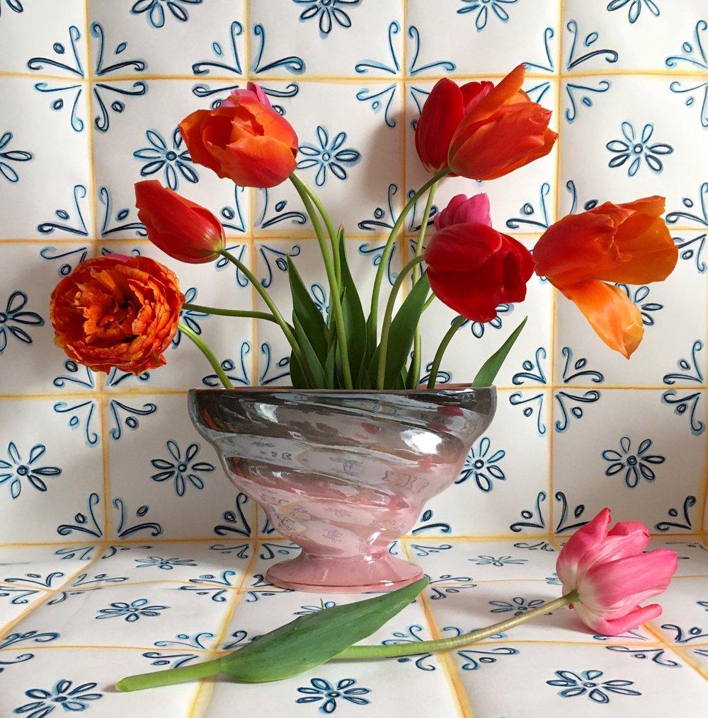 Image of Lustreware ombre vase