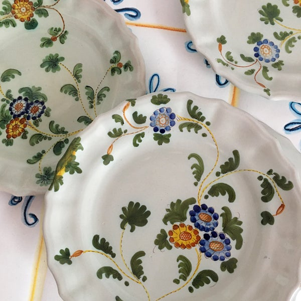 Image of Floral side plates x 4