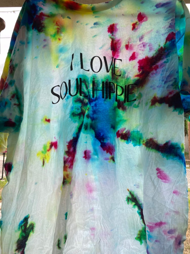 Image of I love soul hippie tee shirt *Pre Order*