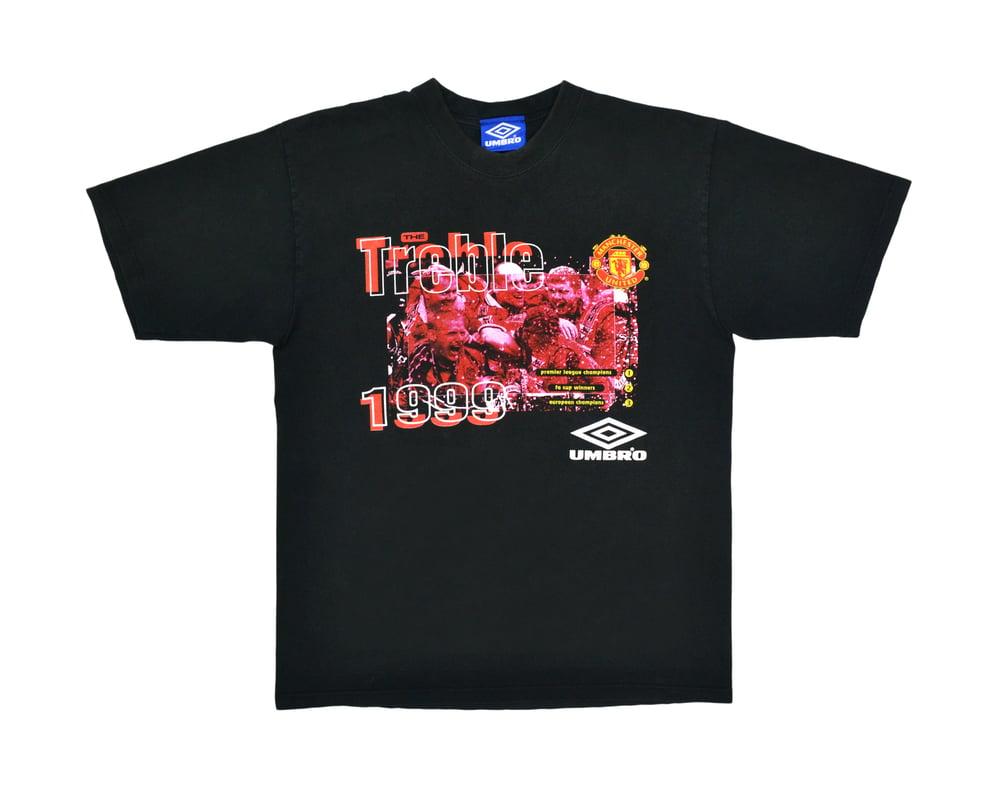 Image of 1999 Umbro Manchester United Treble T-Shirt M