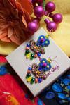 Deli Earrings - Margarita - Petites boucles brodées