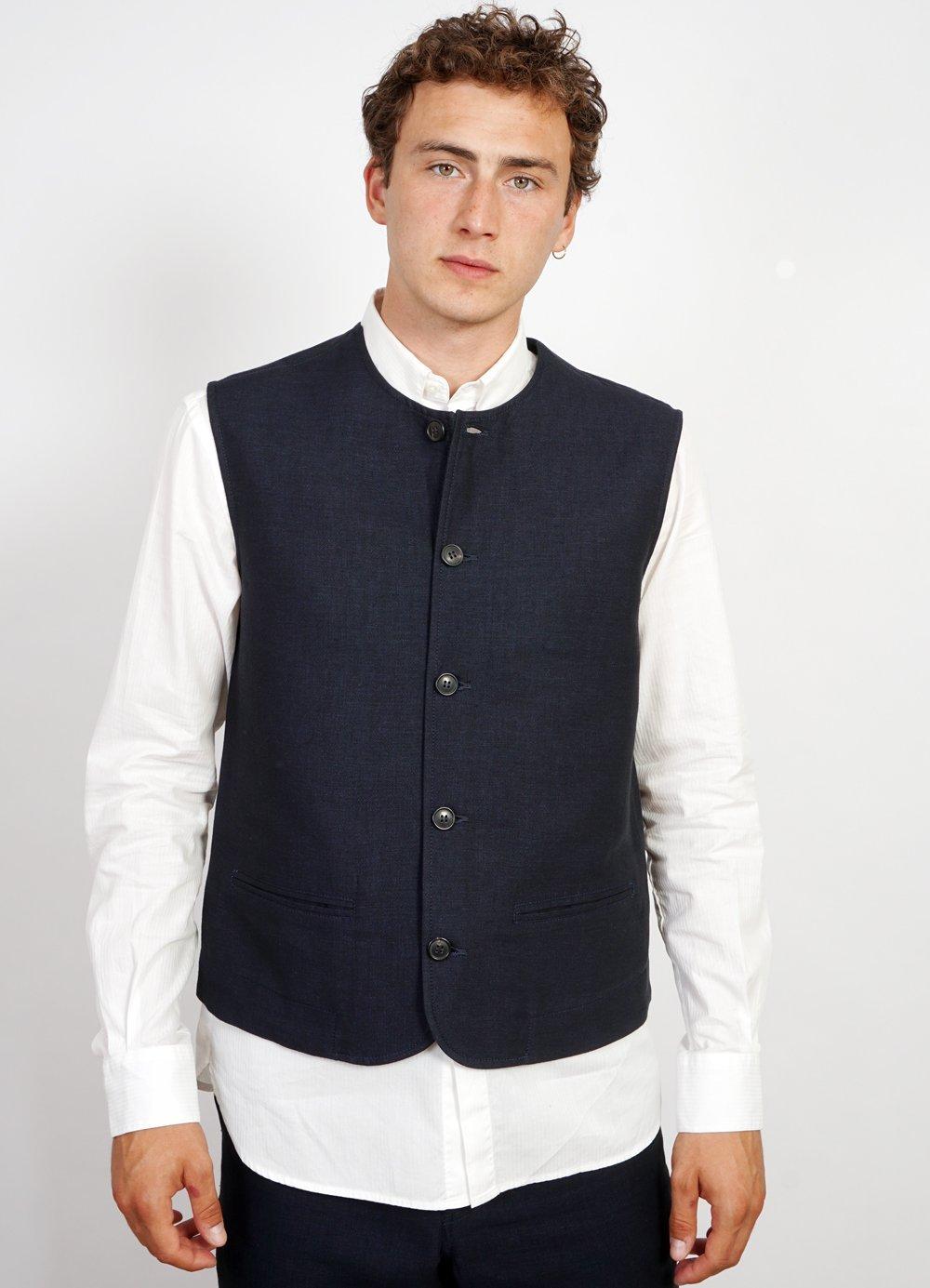 Hansen Garments BEN   Crewneck Waistcoat   3-tone blue