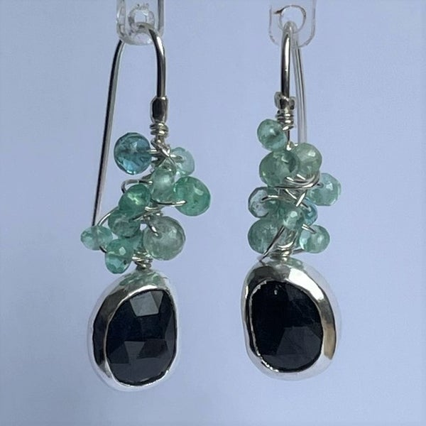 Image of Sapphire and Emerald earrings
