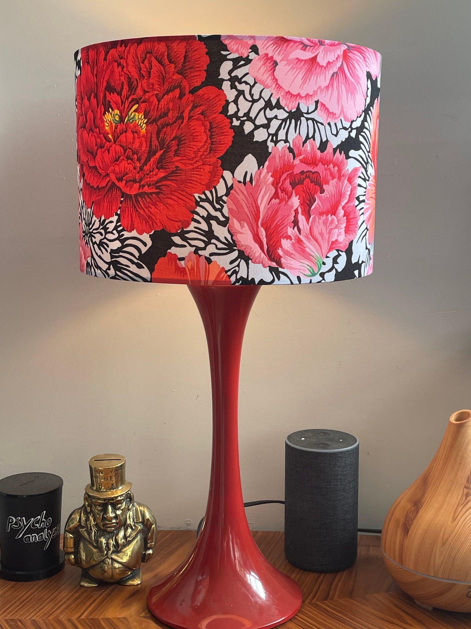 Image of Brocade Peony Crimson Shade 30cm