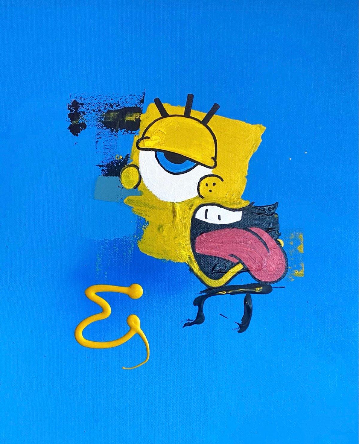 "Image of ""Crazy Sponge"" Original Painting"