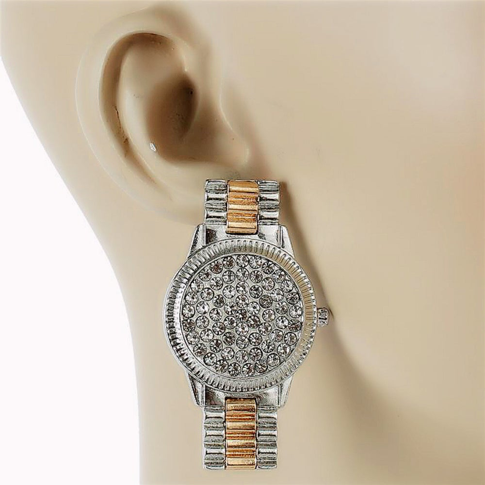 Image of Nothing But Crystal Time Earrings