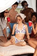 Image 1 of Print Hot Girl Summer Recycled high-waisted bikini