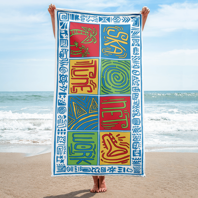 Image of Greetings from Ska Shores | Island Vibes Beach Towel (PREORDER - SHIPPING IN JUNE)