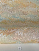 Marbled Paper Flame Pattern Collection on White - 1/2 sheets