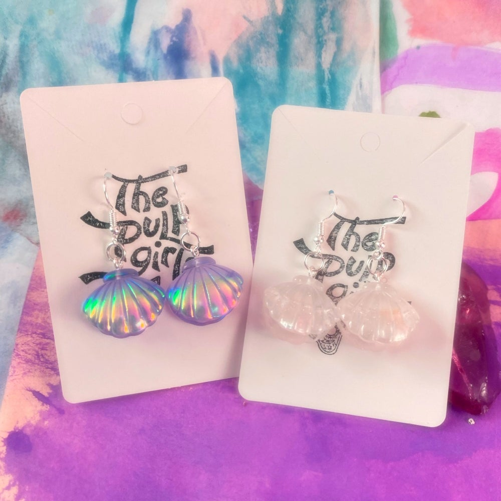 Image of MERMAID'S FAVE SHELL EARRINGS